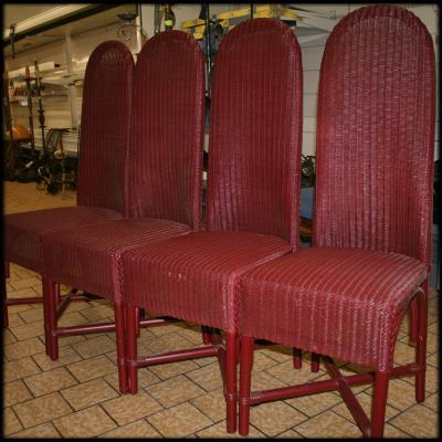 4 lloyd loom italia rieten stoelen fatto a manodouble ducks antiek inboedel inkoop opkoop. Black Bedroom Furniture Sets. Home Design Ideas